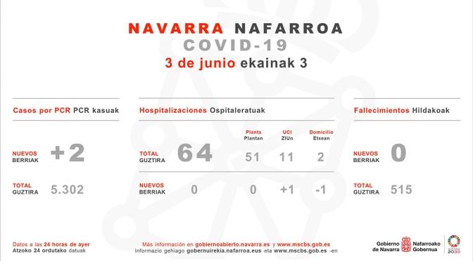 Cinco jornadas consecutivas sin fallecidos en Navarra