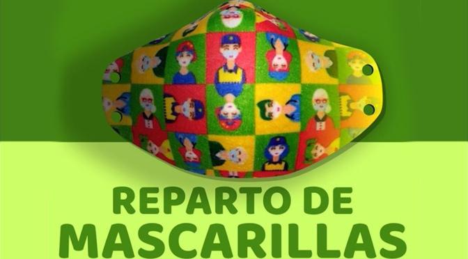 Rincón de Soto reparte las mascarillas conmemorativas del Dia de La Rioja