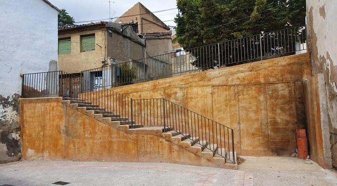 Una escalera será el enlace entre la calle Cárcaba y el callejón de la cuesta del Rufo