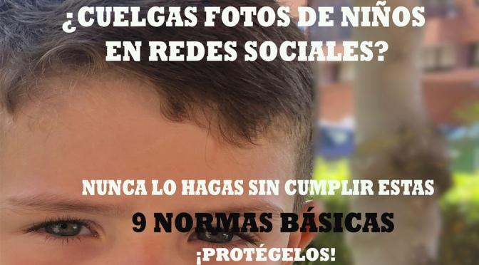 Las 9 normas básicas de la Guardia Civil a los padres que suben fotos de sus hijos a redes sociales