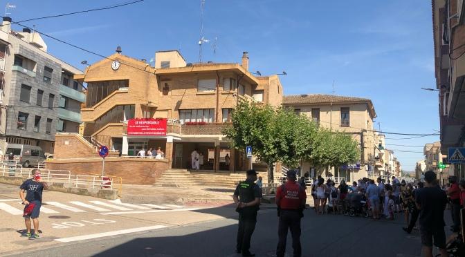 Una boda protagoniza el NO chupinazo de San Adrián