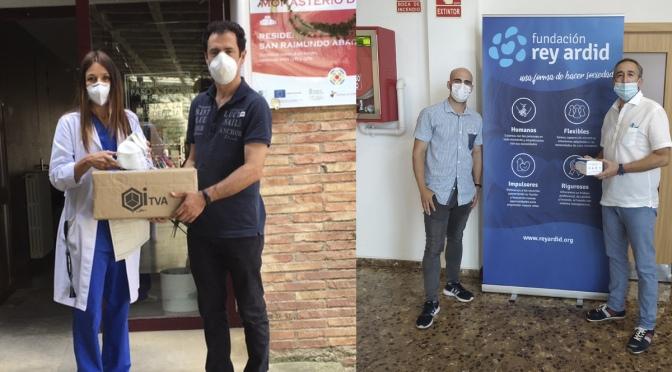 Jeyjo distibuye material sanitario entre diferentes residencias