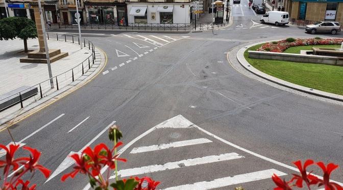 Tanto este año como el que viene se va a realizar el pintado de la señalización horizontal de Calahorra