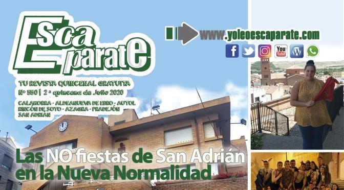 Escaparate 2ª Quincena de Julio con las NO Fiestas de San Adrián en la Nueva Normalidad