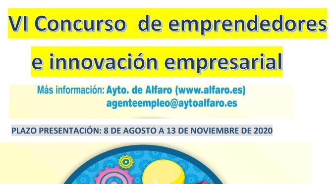 VI Concurso de emprendedores e innovación empresarial del Ayuntamiento de Alfaro