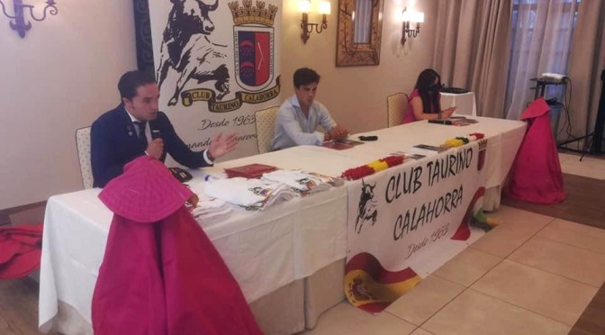 Galería: Gonzalo Caballero en el pregón del Club taurino de Calahorra
