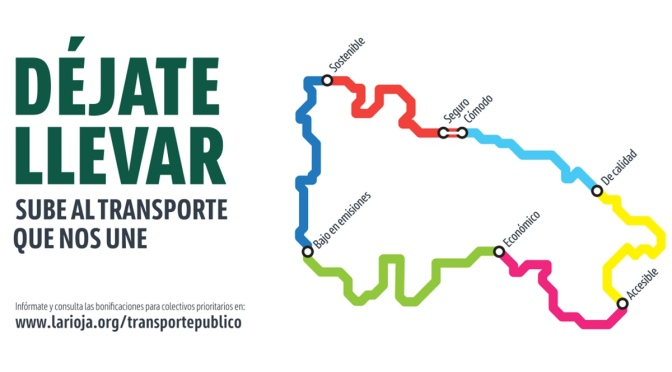 """""""Déjate llevar"""" Nueva campaña para fomentar el uso del transporte público en La rioja"""