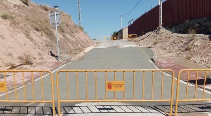 Reparación de uno de los accesos a las Eras de San Martín en Alfaro