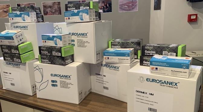 El Ayuntamiento de Alfaro entrega un lote de material higiénico sanitario a los centros educativos de la localidad