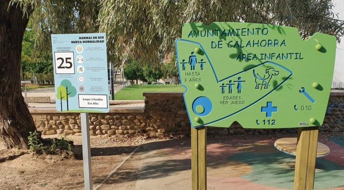 Los parques infantiles de Calahorra se encuentran abiertos al público desde hoy