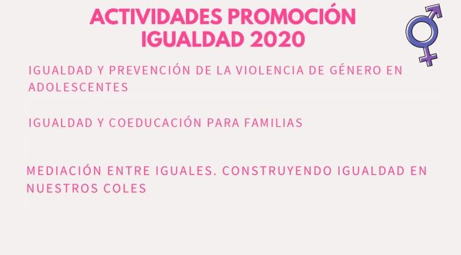 Talleres y sesiones virtuales en las actividades de la concejalía de Igualdad
