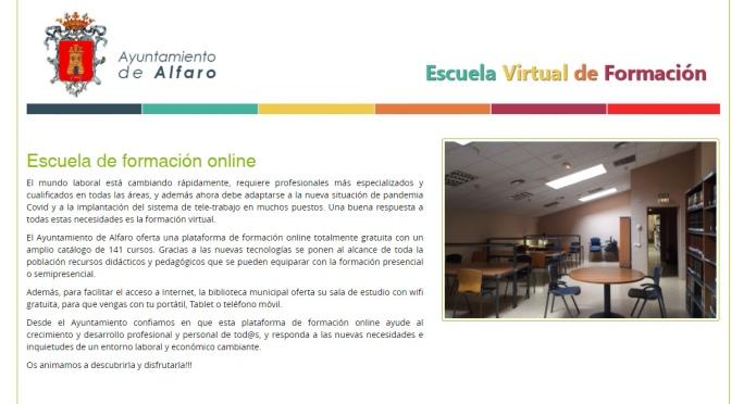 """Nuevo servicio de """"Escuela de formación virtual"""" en Alfaro"""