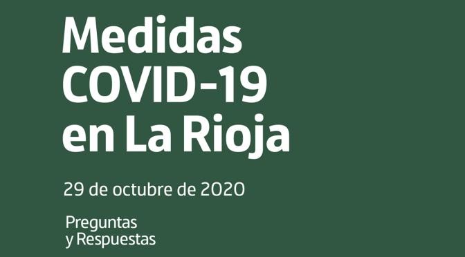 Guía de preguntas y respuestas sobre las nuevas medidas de La Rioja