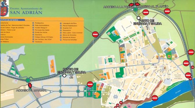 Dos puntos de control para regular las entradas y salidas de San Adrián