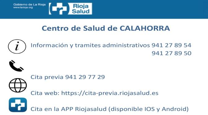 Teléfonos del Centro de Salud de Calahorra