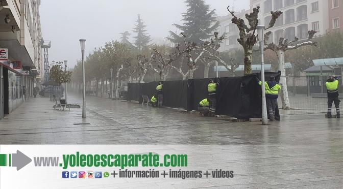 Comienza el montaje del Belén municipal en Calahorra