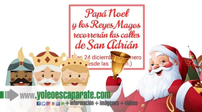 Papá Noel y los Reyes Magos recorrerán las calles de San Adrián