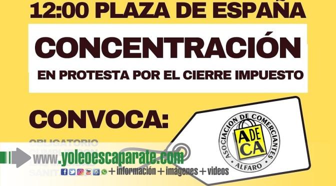 Nueva concentración en Alfaro también para el sábado