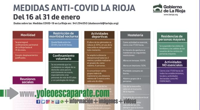 Recordatorio de las nuevas medidas en vigor en La Rioja