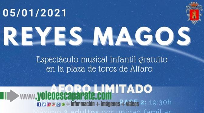 Todavía quedan entradas para ver a los reyes Magos en Alfaro