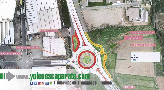 Las obras de la nueva rotonda de San Adrián se iniciarán en mayo