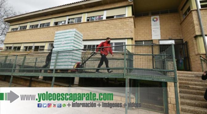 Reparto de mascarillas entre 75 centros educativos de la Rioja