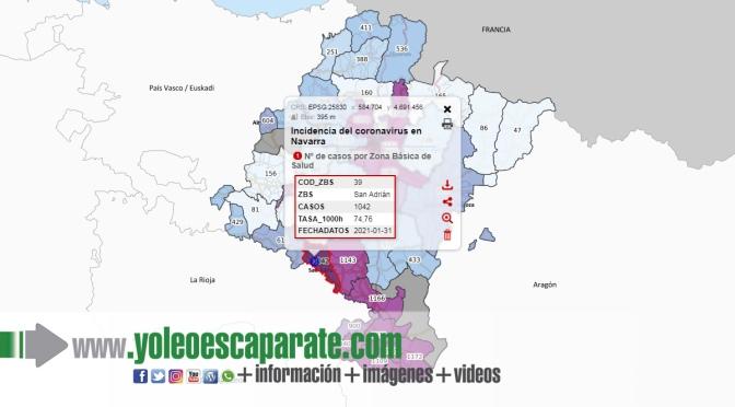 Siete nuevos casos en la zona básica de San Adrián, aunque uno fuera de Navarra
