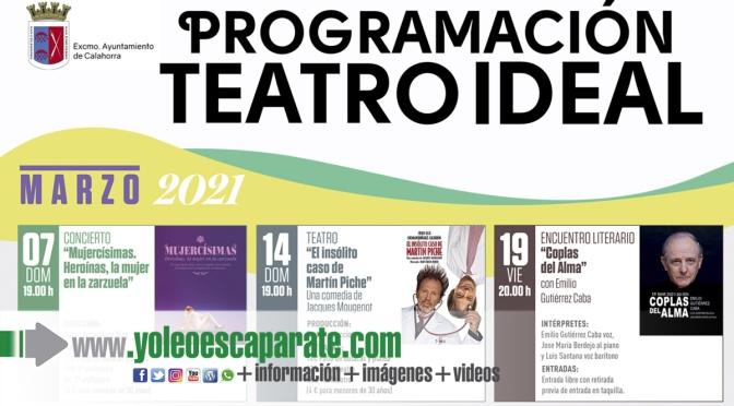 Vuelve la programación del teatro ideal en marzo y abril