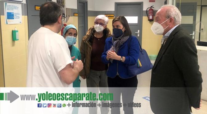 Visita de Sara Alba al Centro de Salud de Alfaro  para evaluar el nuevo Plan Estratégico de Atención Primaria