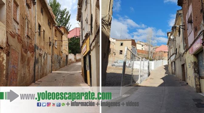 Finalizados los derribos de la cuesta del Rufo en Calahorra