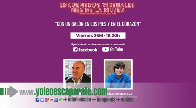 Sofía Martínez este viernes en los encuentros virtuales por el mes de la mujer