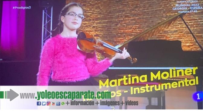 La alumna de Agustinos, Martina Moliner, emociona al jurado del concurso de TVE 'Prodigios'