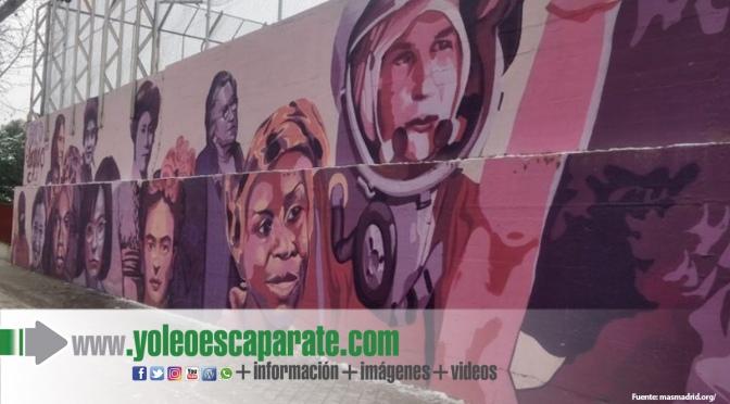 El próximo fin de semana el mural de Ciudad Lineal será replicado en Calahorra