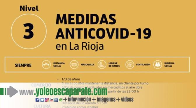 La Rioja estrena el nivel 3 del plan de medidas según indicadores