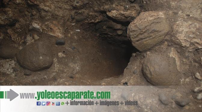 Encontrado un Nuevo orificio cuadrado en la pared norte de la cloaca romana de Calahorra