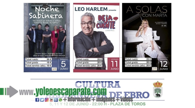 Aldeanueva de Ebro programa tres  espectáculos en junio