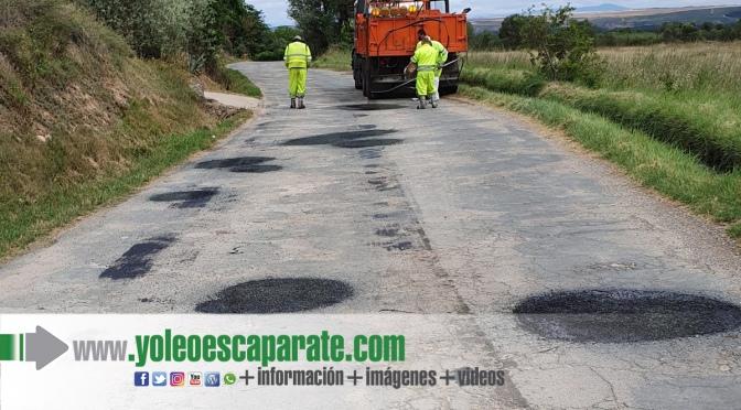 Reparado el bacheo de la carretera de Murillo