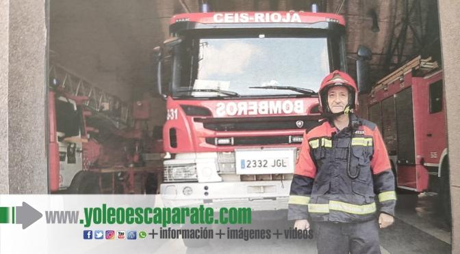 Jubilación del calagurritano Javier Alfaro, sargento de bomberos de La Rioja Baja
