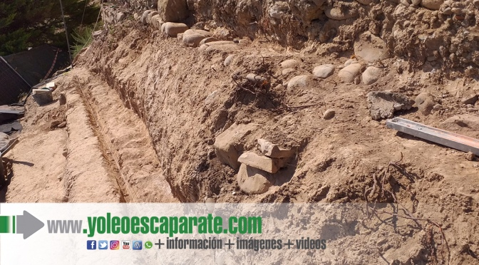Reanuadada la obra de la muralla romana de Juan Ramos