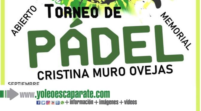 Torneo de pádel memorial Cristina Muro Ovejas