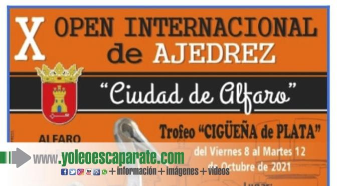 Alfaro celebrará el X Open Internacional Ciudad de Alfaro Trofeo Cigüeña de Plata.