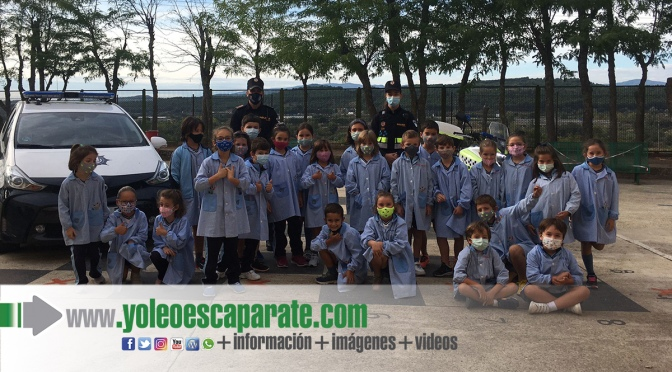 La Policía Local de Calahorra visita a los alumnos de La Milagrosa