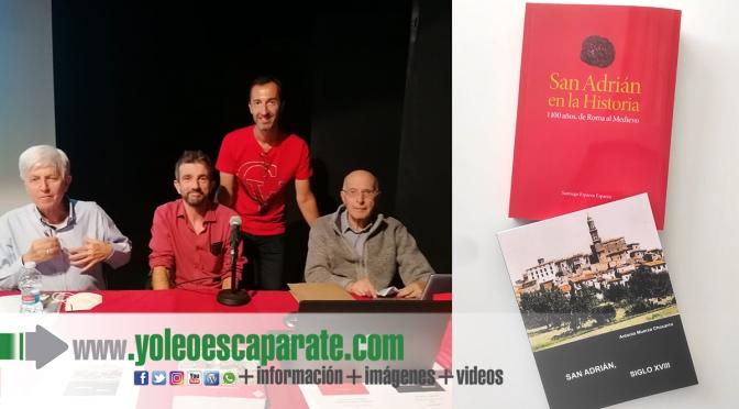 Antonio Muerza y Santiago Esparza presentan dos nuevos libros sobre la historia de San Adrián