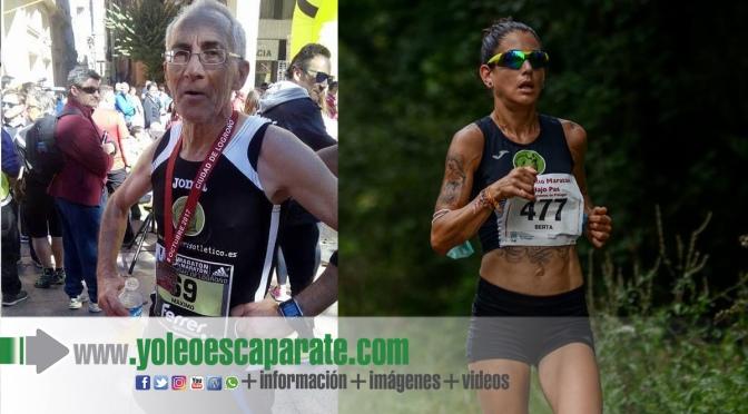 El adrianés Maxi Velilla y la calagurritana Berta Pascual subcampeones en el Maratón Ciudad de Logroño