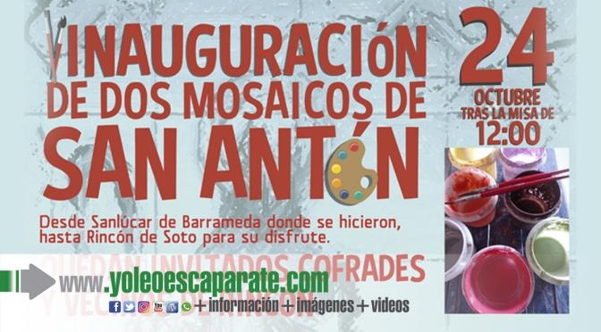 Este domingo se inauguran dos mosaicos de San Antón en Rincón de Soto